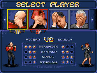 Streets of Facepalm: Select Player