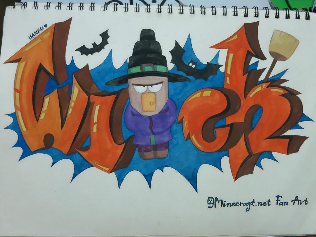 Best Wallpaper Minecraft Zombie Pigman - 9minecraft_fanart_witchgraffiti_by_9minecraft-d6dysm6  Pic_689581.jpg