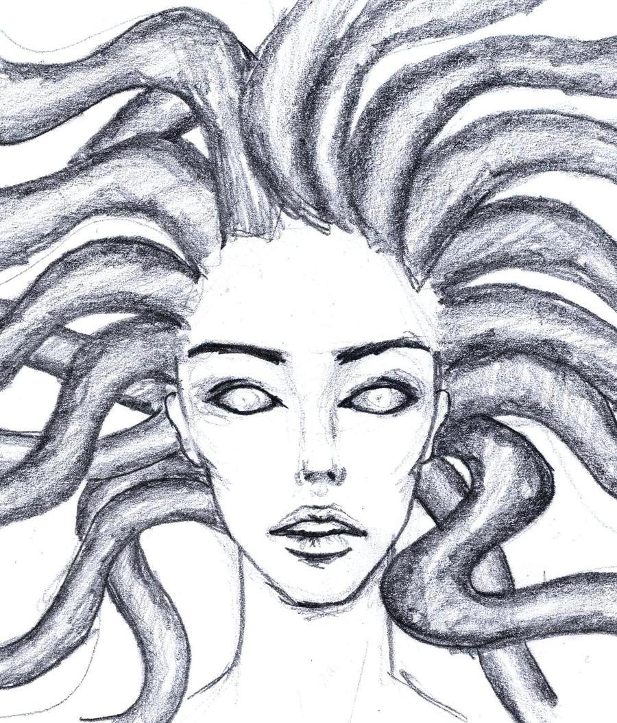 medusa (quick drawing) by ragnahf on DeviantArt