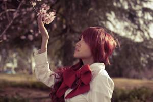 Sakura wo miteiru Mitsuru by thebooradlus