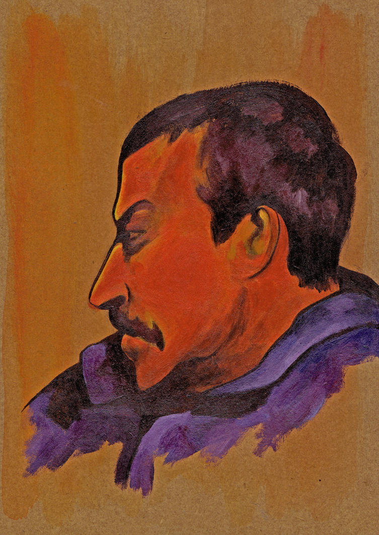 Gauguin self-portrail by joaobaptistella