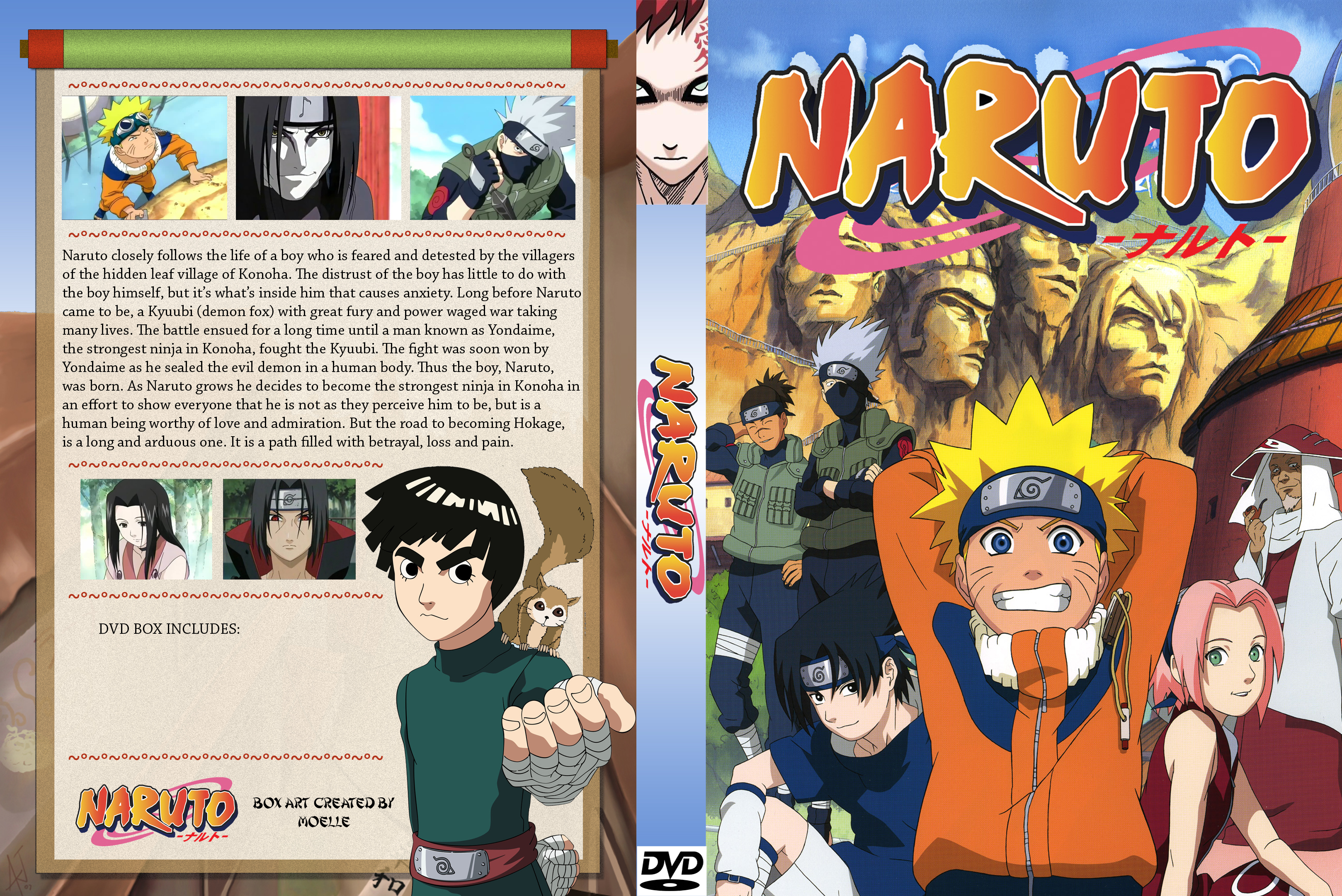 Naruto DVD Cover By Moelleuh On DeviantArt