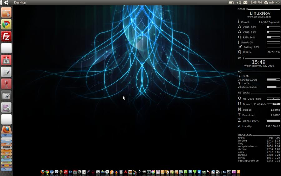 Unity Desktop On Ubuntu 10.04 by mhnassif