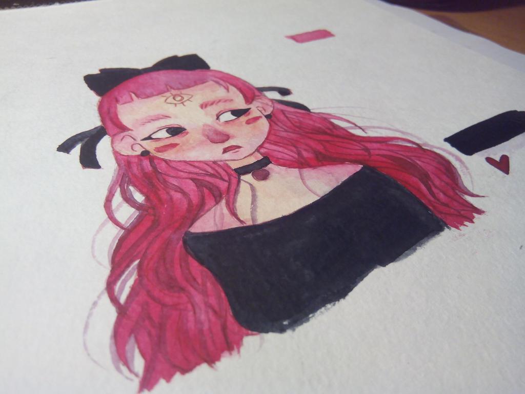 Purple girl by HannaLoony