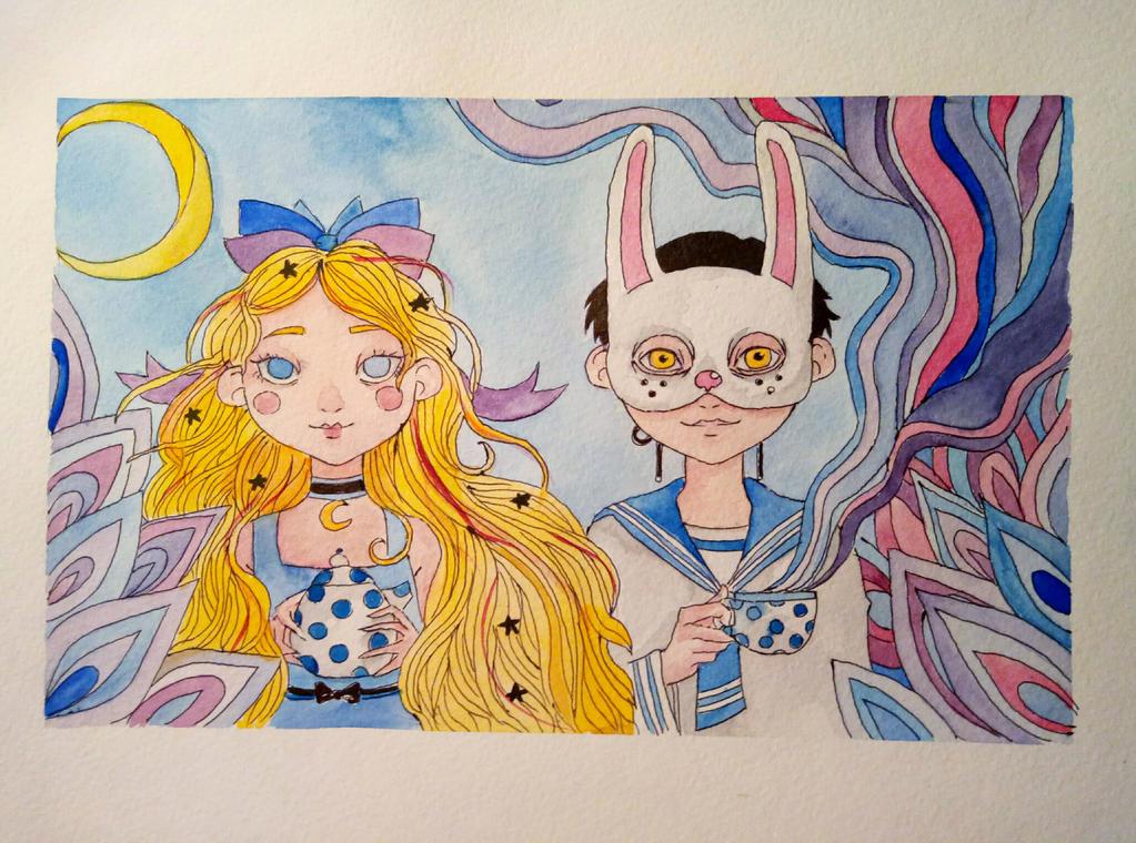 Princess and Rabbit by HannaLoony