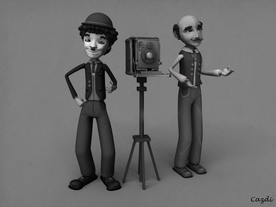 Charlot and Photographer by azyhadee