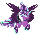 Commission: ConorXPetunia (Midnight Glimmer) by missgoldendragon