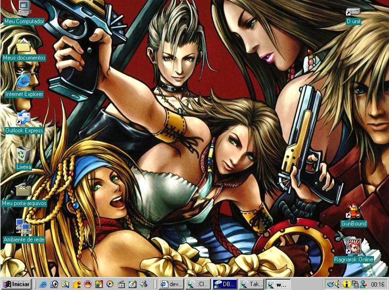 Desktop FFX 2 Tetsuya Nomura by Raftand