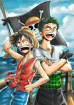 ONE PIECE_Luffy and Zoro