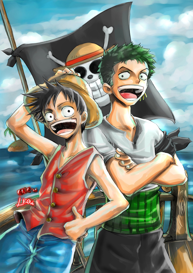 Luffy_and_Zoro___ONE_PIECE_by_Raftand