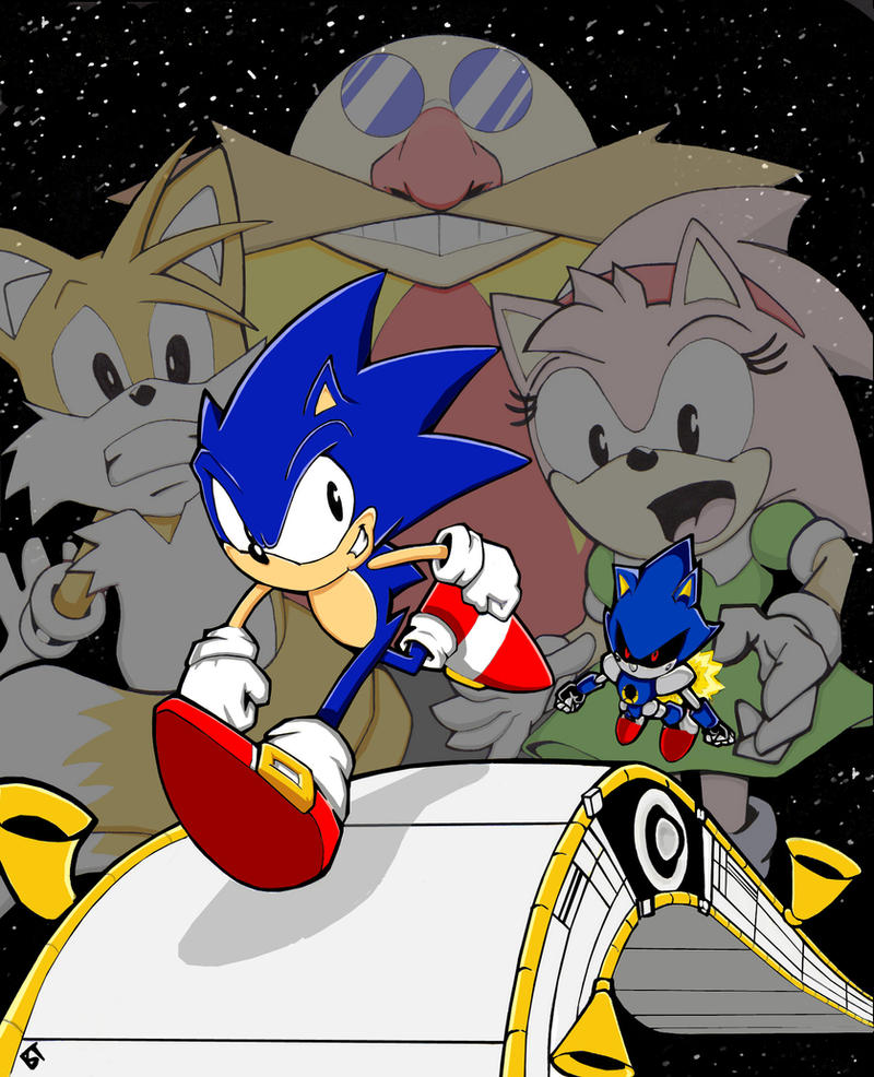 "Sonic Cd Contest entry ""Race to the Finish'' by Vauz"