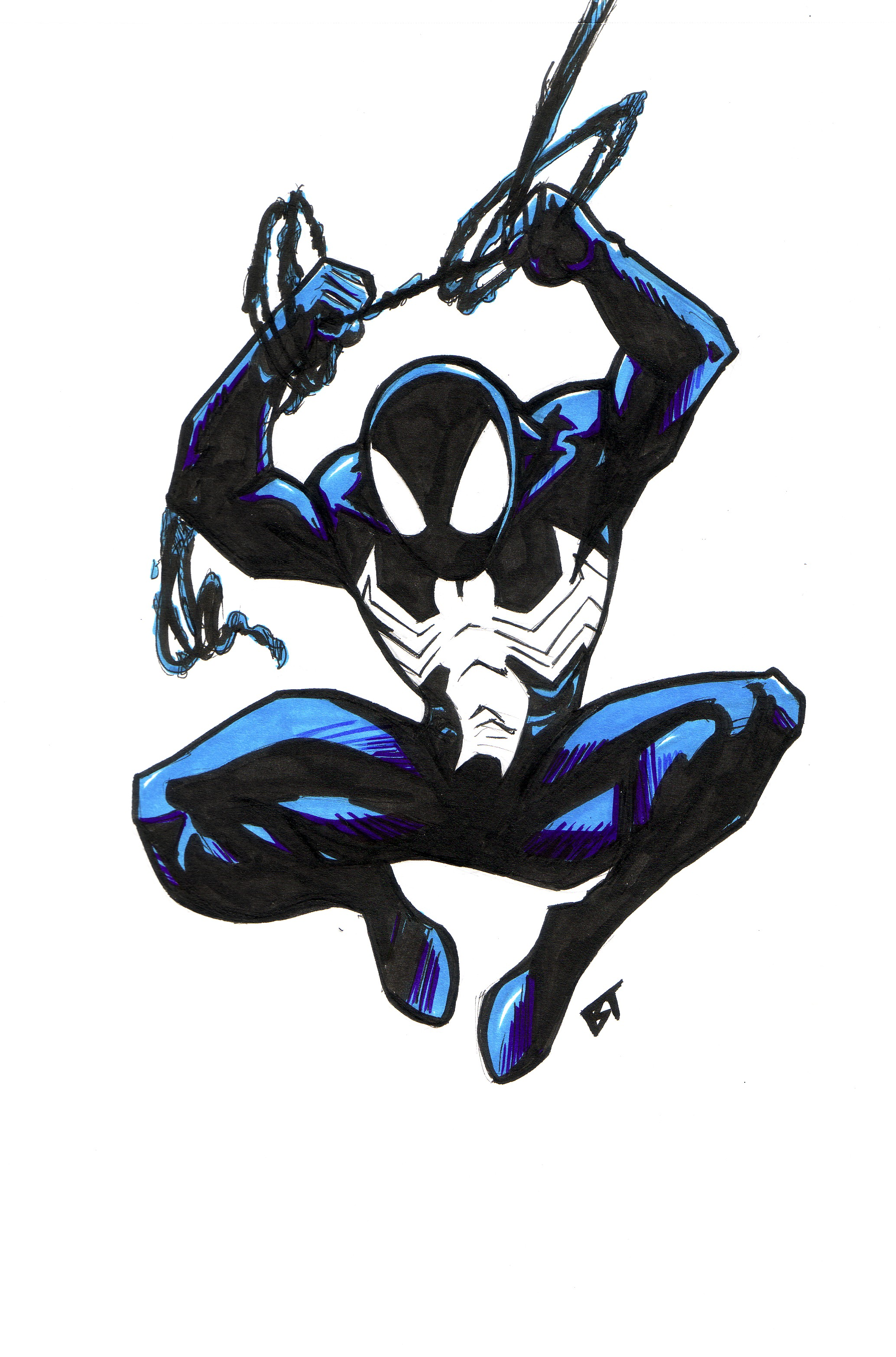 ultimate spider man black costume by vauz-d5b5dk6 jpg  2068  215 3132 How To Draw Ultimate Spider Man