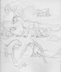 dragon group doodles by bluedrgnMethy