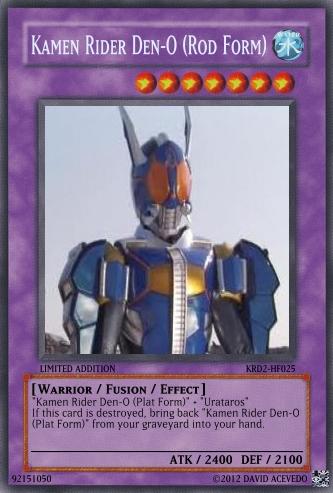 Kamen Rider Den-O Rod Form Card by Monkeycyborgninja on ...