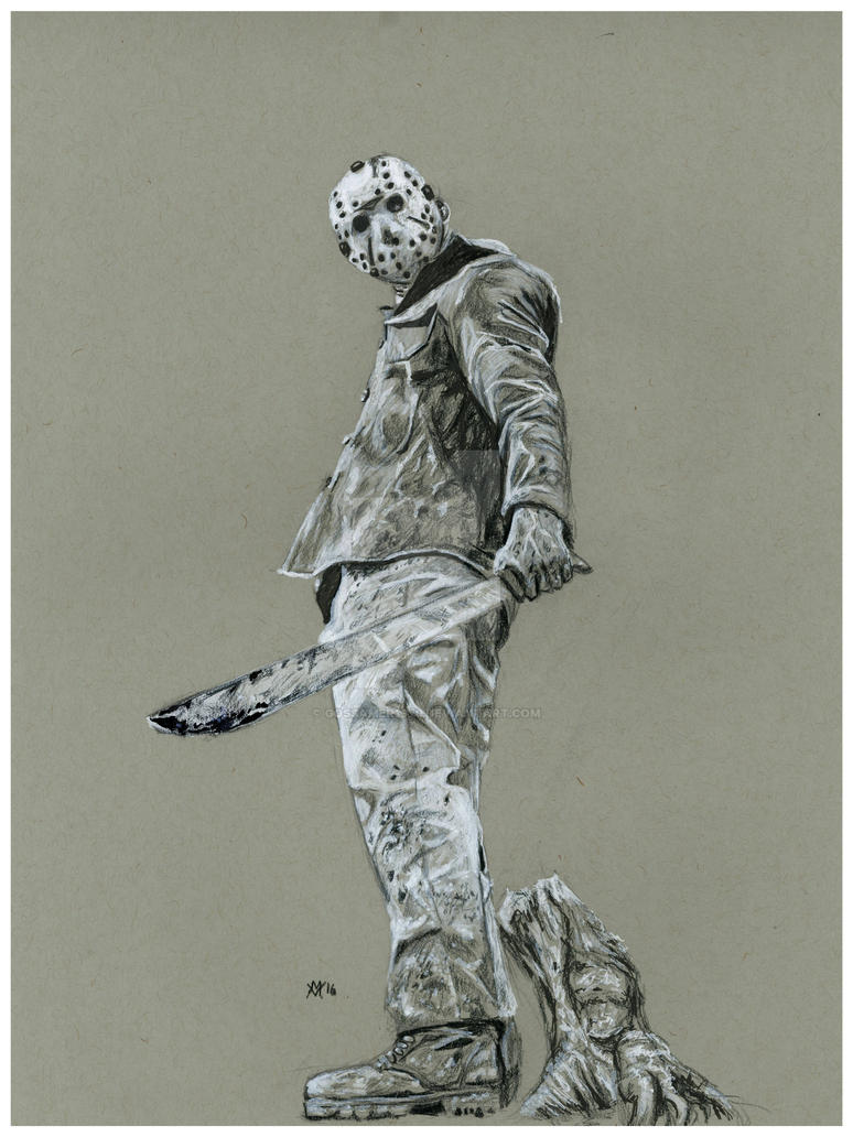 Jason Voorhees: Friday the 13th by Gossamer1970 on DeviantArt Jason Friday The 13th Drawings