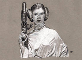 Carrie Fisher as Princess Leia by Gossamer1970