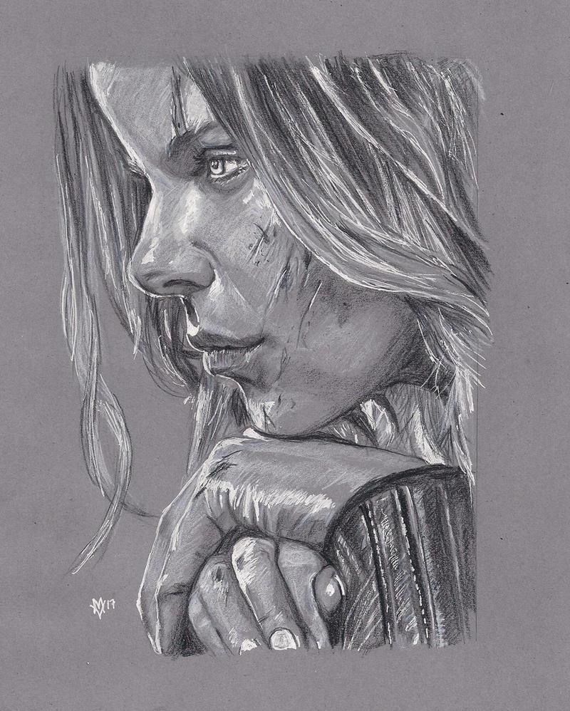 Kate Beckinsale as the vampire Deathdealer Selene by Gossamer1970