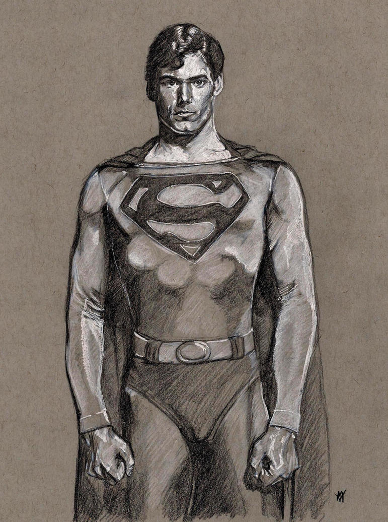 Christopher Reeve as Superman by Gossamer1970
