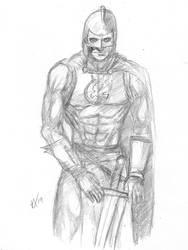 Daily Sketch Challenge Black Knight by Gossamer1970