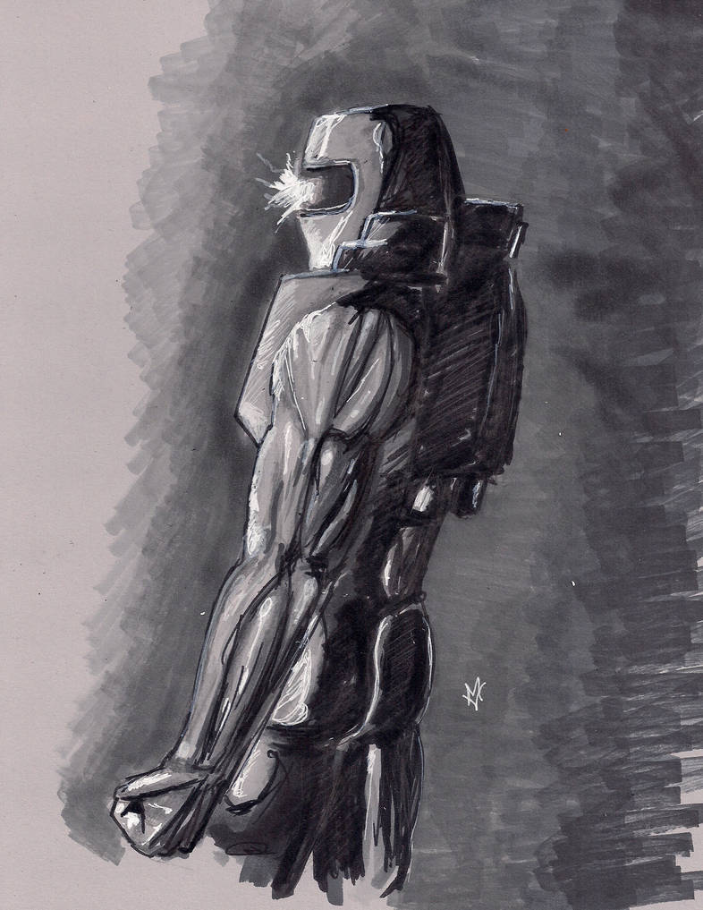 Daily Sketch Challenge Rom Space Knight by Gossamer1970