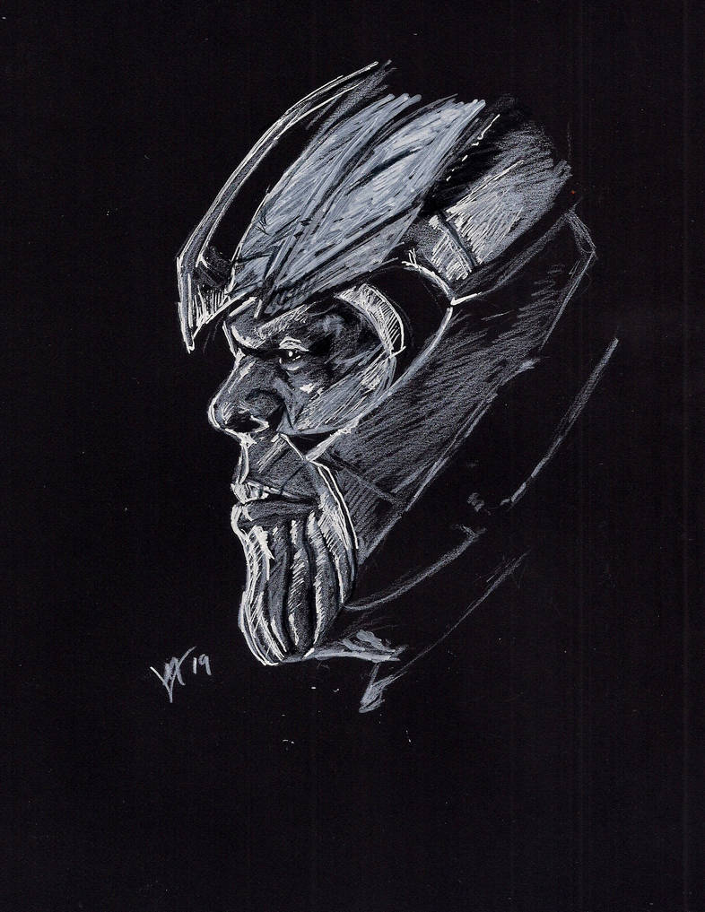 Daily Sketch Challenge Thanos by Gossamer1970
