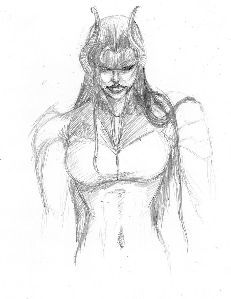 Daily Sketch Challenge Proxima Midnight by Gossamer1970