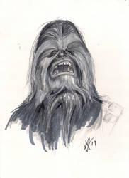Daily Sketch Challenge Chewbacca by Gossamer1970
