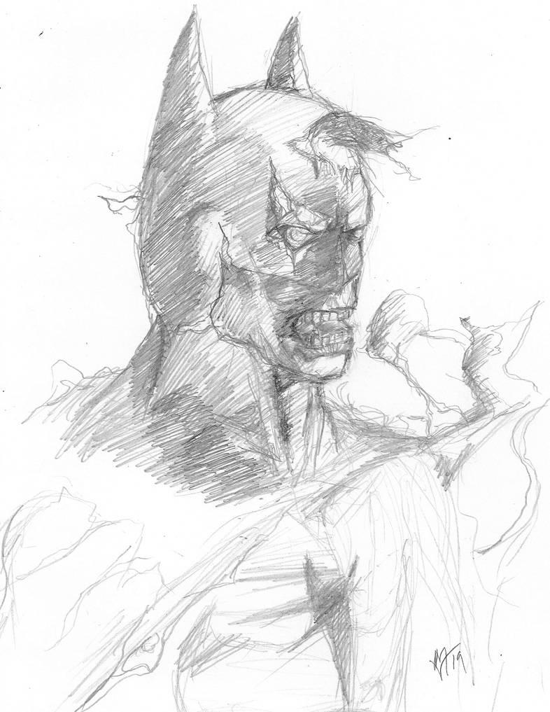 Daily Sketch Challenge DCeased Batman by Gossamer1970