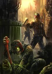 Dredd/ Death (movie style) by JonTaylorArt