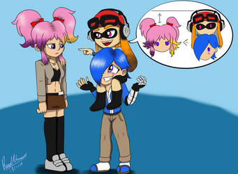 SMG4 Gals: Taller Than You by ReedAhmad