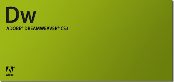 Dreamweaver CS3 splash