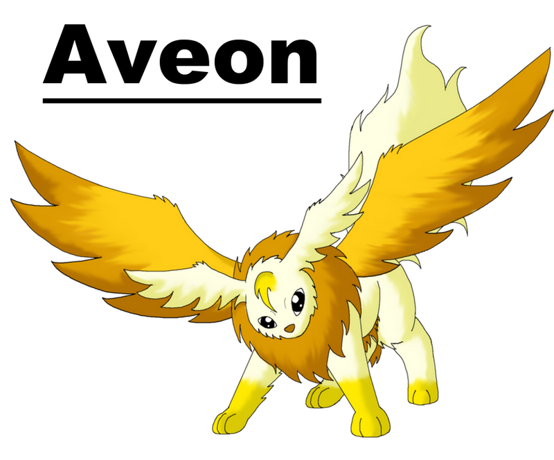 Aveon The Golden Wing Pokemon by MegBeth