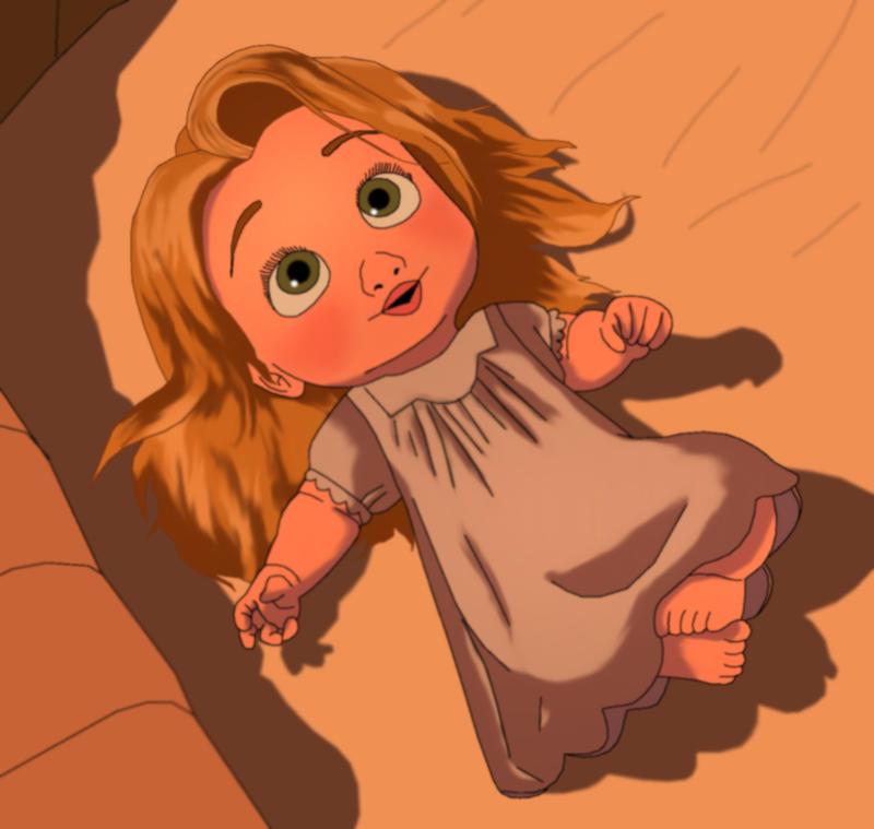 Baby Rapunzel by MegBe...