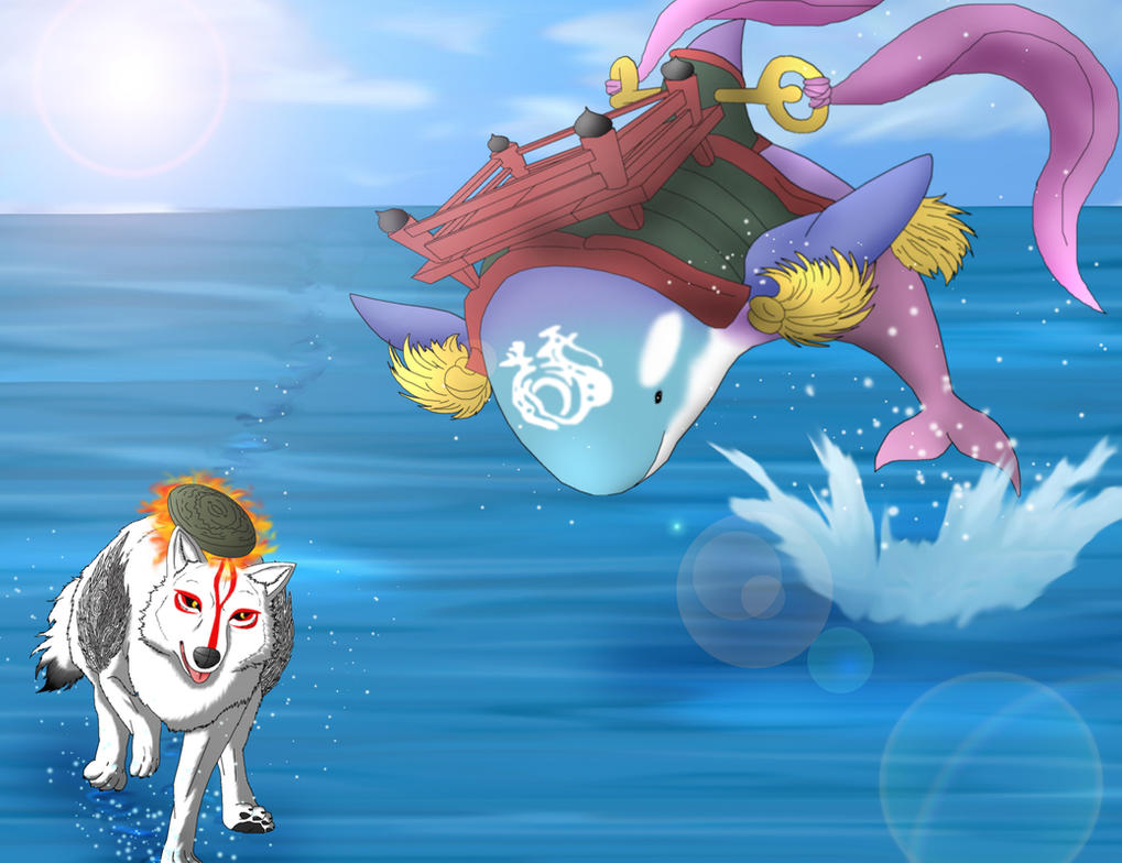 Amaterasu And The Amazing Orca by MegBeth