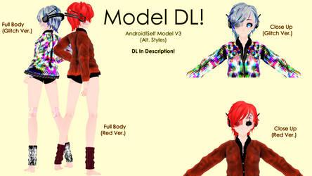 [MMD Model DL] Android!Self Model V3 (Alt Version)