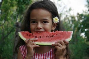 Wattermelon Little Girl Portrait by little-girl-stock