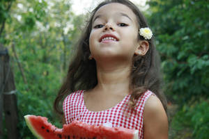 Wattermelon Little Girl Portrait 4 by little-girl-stock