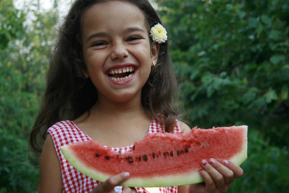 Wattermelon Little Girl Portrait 6 by little-girl-stock
