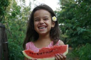 Wattermelon Little Girl Portrait 7 by little-girl-stock