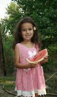 Wattermelon Little Girl Portrait 8 by little-girl-stock