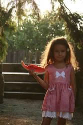 Wattermelon Little Girl Portrait 11