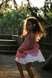 Wattermelon Little Girl Portrait 12