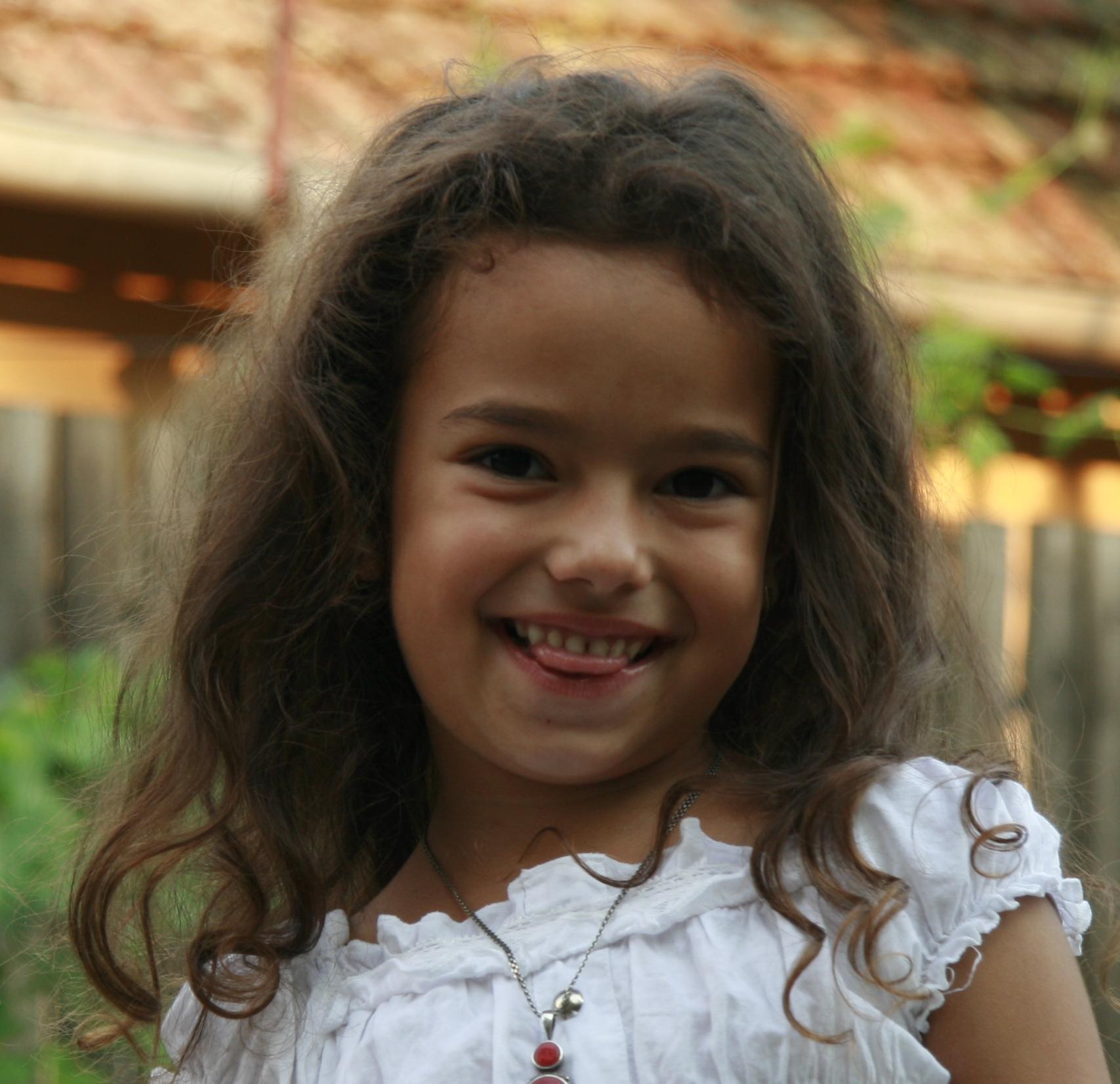 Turns! Cute little girl