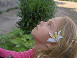 Half Face - Stock by little-girl-stock