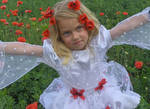 Little Girl embrace by little-girl-stock