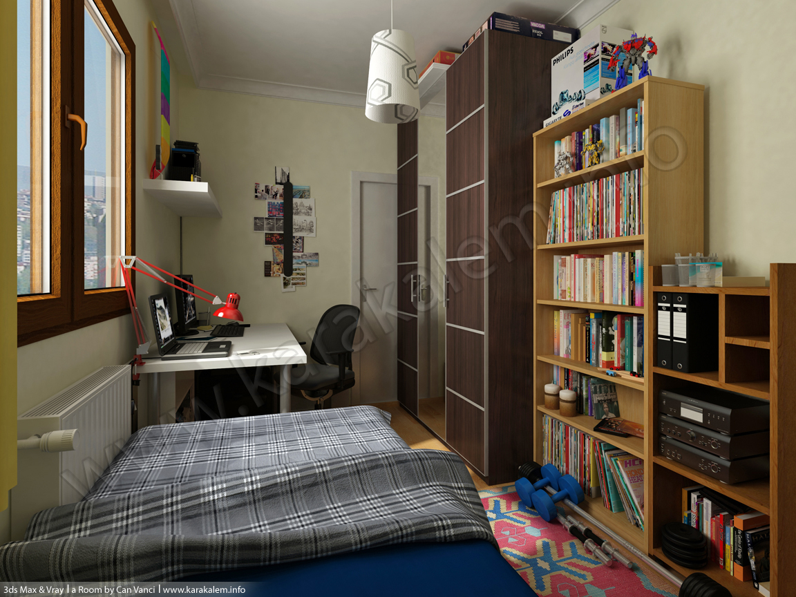 3d room model in the morning by canvanci on deviantart 3d room