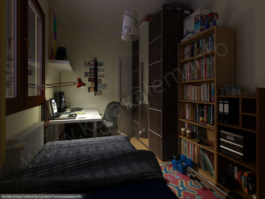 3D Room Model At Night By Canvanci ...