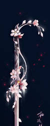 Cherry blossom sword for my OC. by Snowflower--Chan00