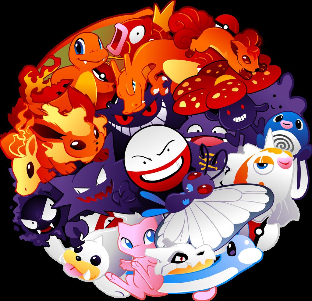 Pokeball Pokemon Design by Kuitsuku