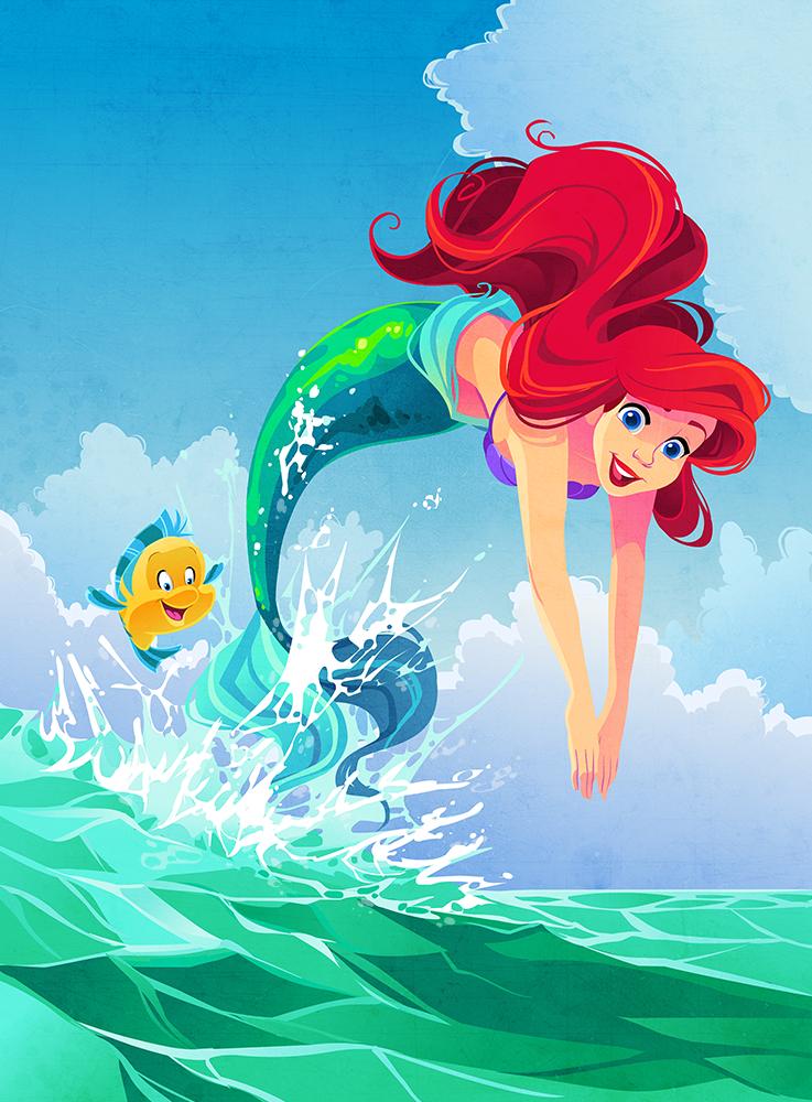 Ariel Illustration by Kuitsuku on DeviantArt